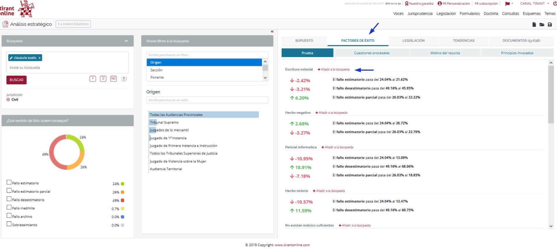 Tirant Analytics software