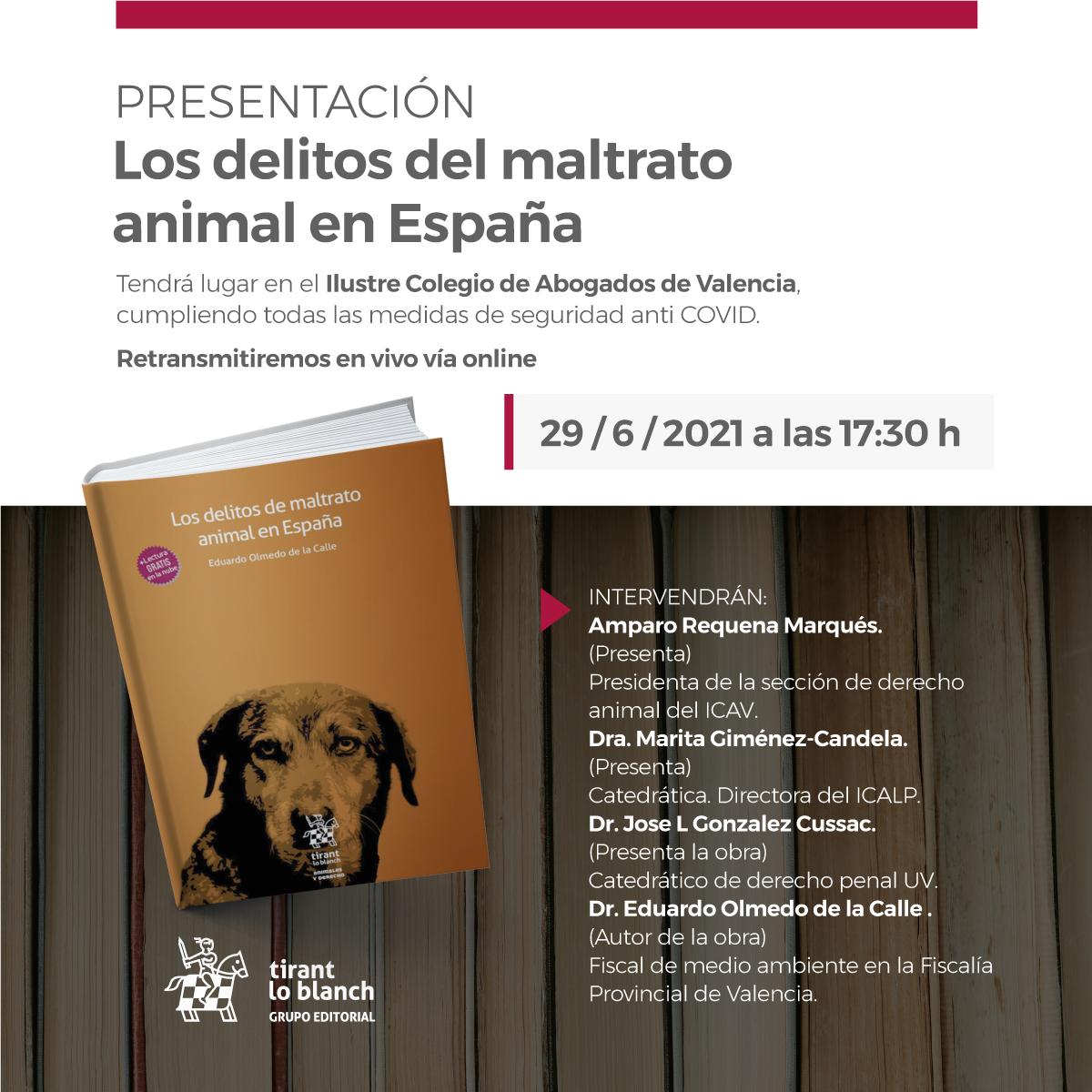 Presentación Los delitos del maltrato animal en España